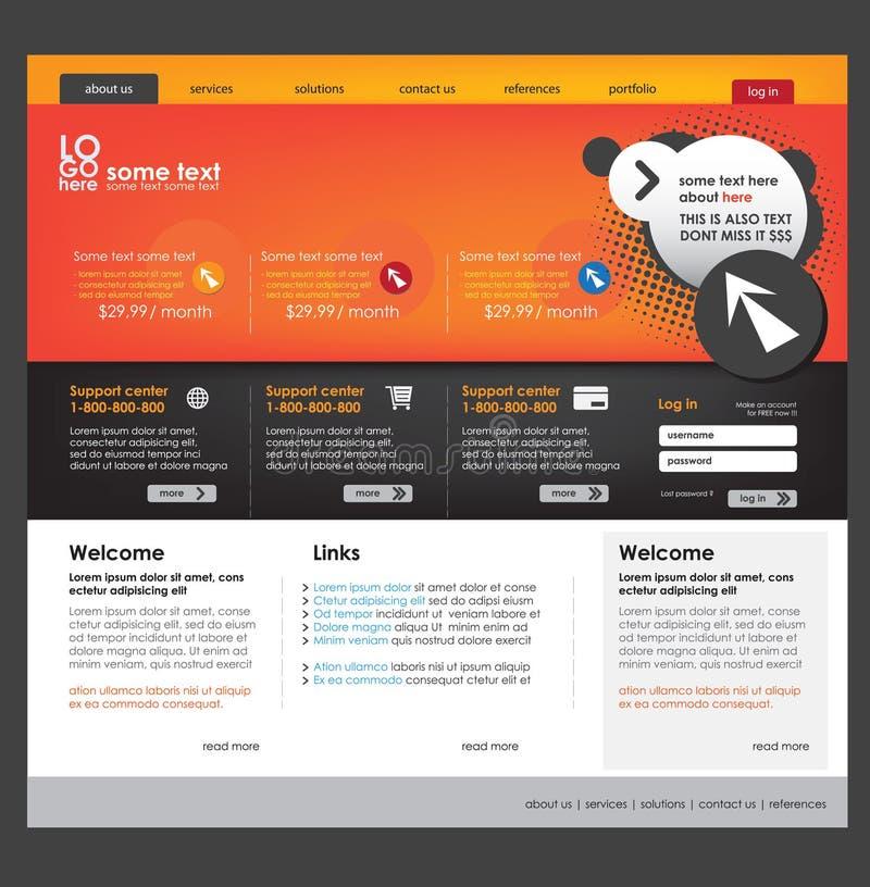 企业模板网站 向量例证