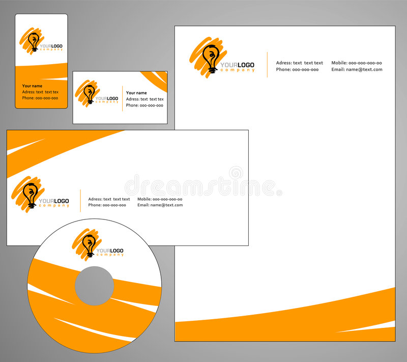 企业模板设计 向量例证