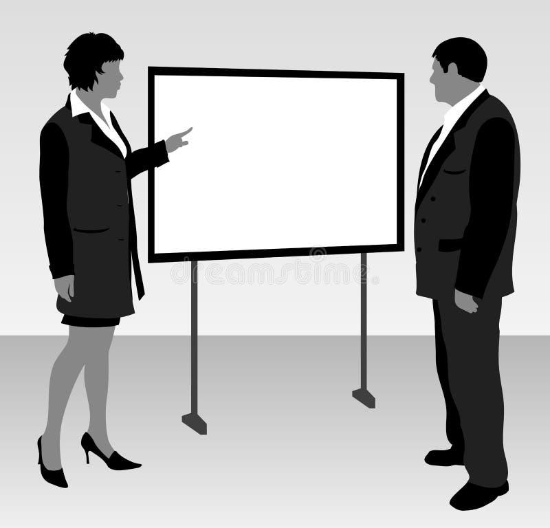 企业模板 库存例证
