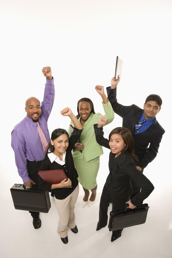企业欢呼的人员 免版税库存照片