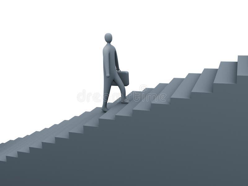 企业步骤 库存例证