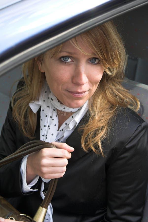 企业汽车妇女 免版税库存照片