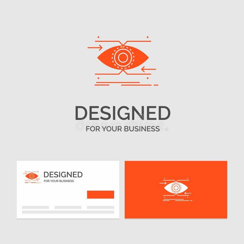 企业注意的商标模板,眼睛,焦点,看,视觉 r 向量例证