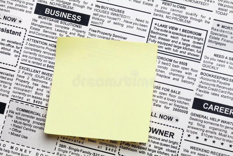 企业消息 免版税库存图片