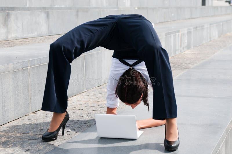 企业灵活的妇女 库存照片