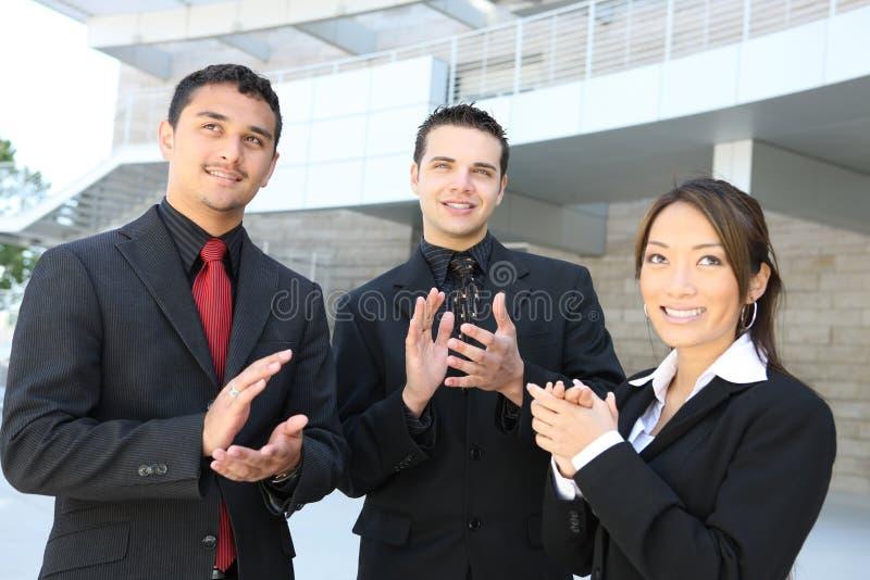 企业焦点群人中间名 库存图片