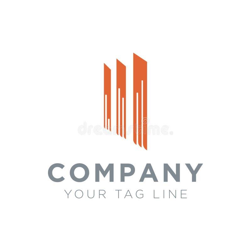 企业物产的商标与3根站立的杆 向量例证