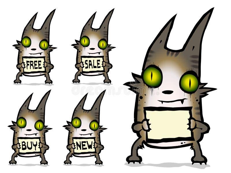 企业猫商务文本 免版税库存图片