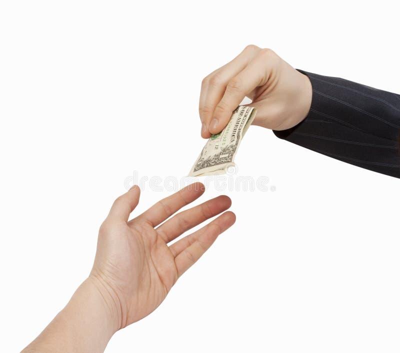 企业现金交易 库存照片
