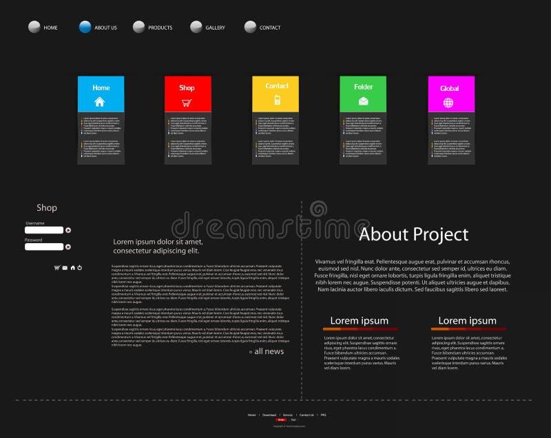 企业现代网站模板 库存图片