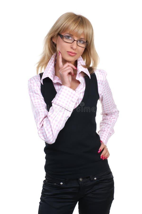 企业玻璃妇女年轻人 图库摄影