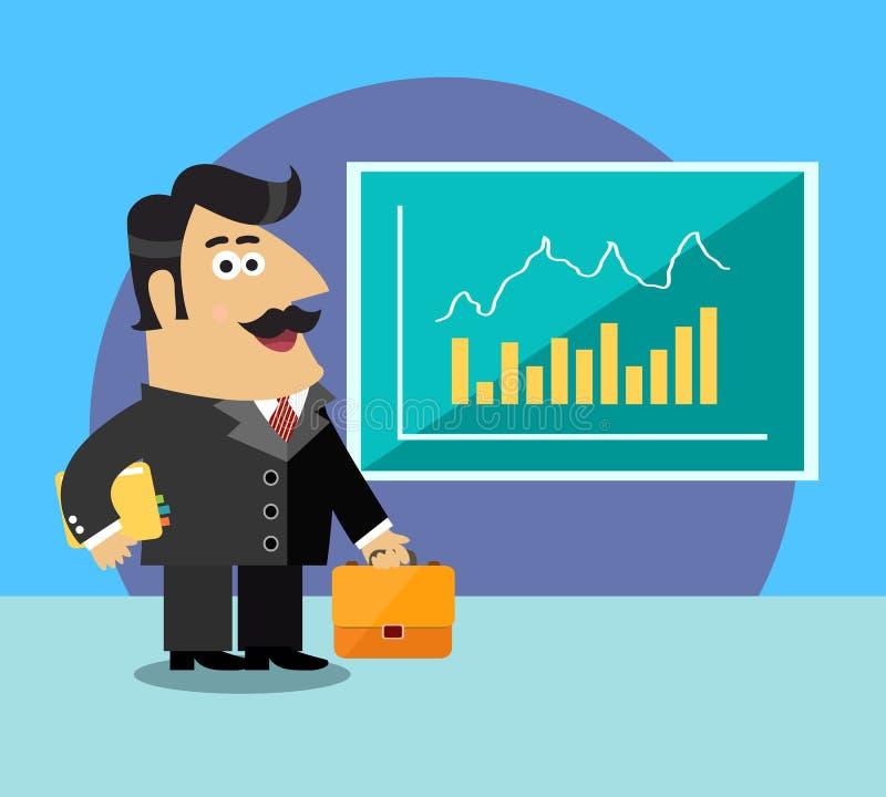企业生命力股东 向量例证