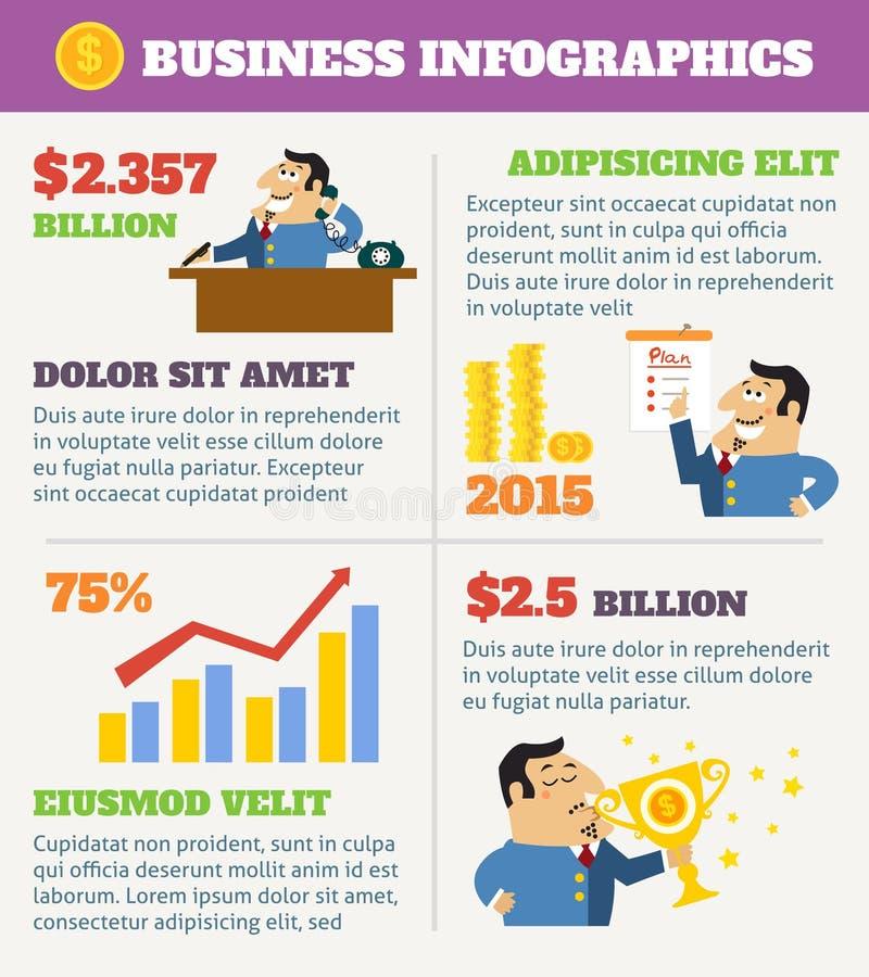 企业生命力infographics 向量例证