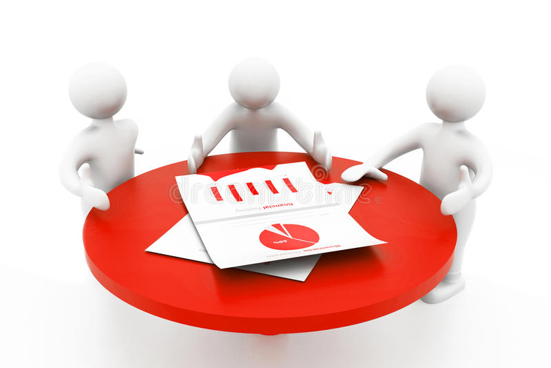企业生意人cmputer服务台膝上型计算机会议微笑的联系与使用妇女 向量例证