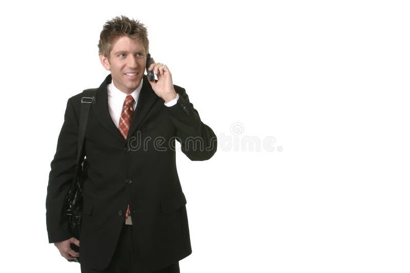 企业电池人电话 图库摄影
