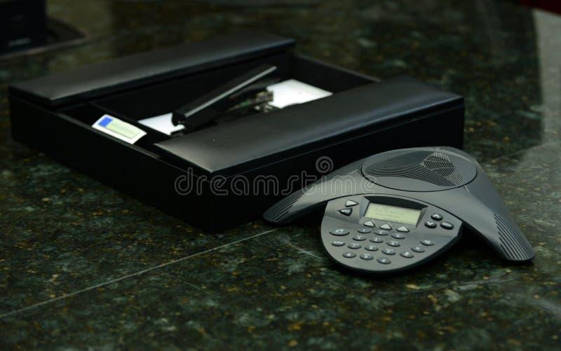企业电话会议电话 库存图片