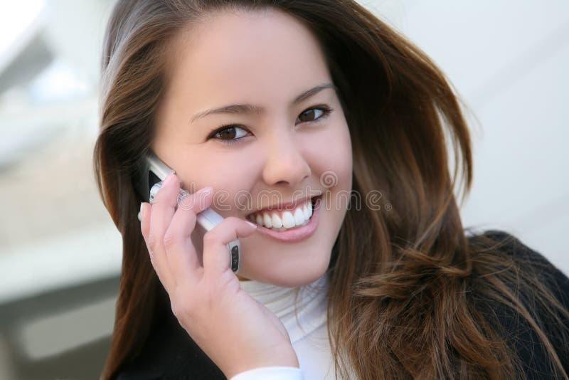 企业电话妇女 免版税库存照片