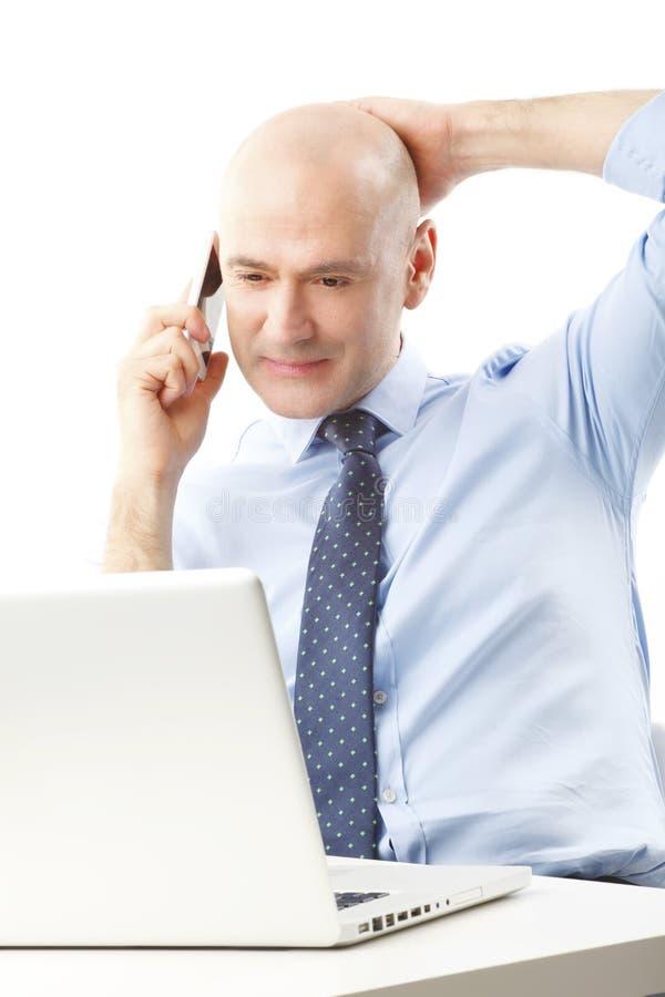 企业男性模型诉讼 图库摄影
