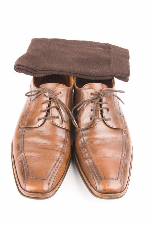 企业皮革豪华人鞋子 免版税库存图片