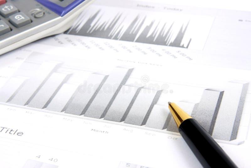 企业监控报表 免版税图库摄影