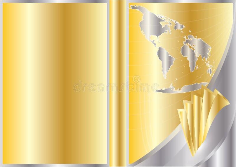 企业盖子设计向量 库存例证