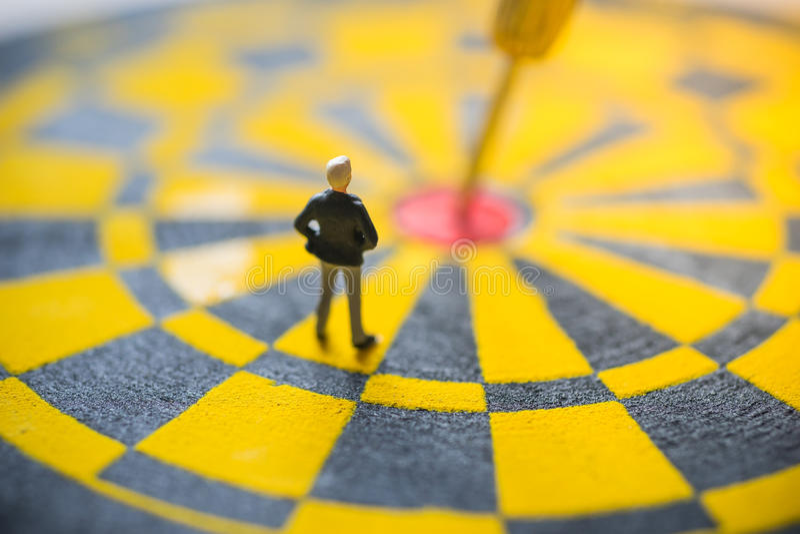 企业目标焦点的概念 库存图片