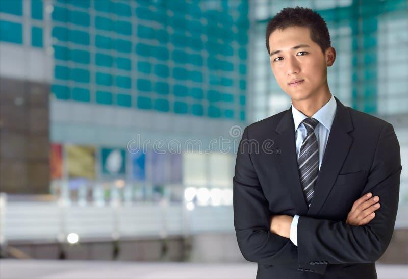 企业确信的人年轻人 免版税库存图片