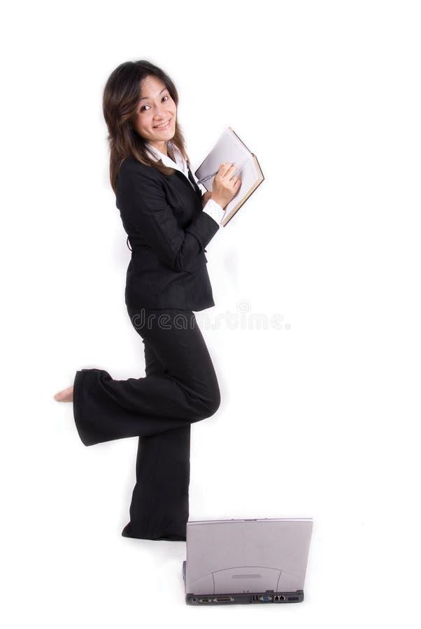 企业确信的女孩 库存图片