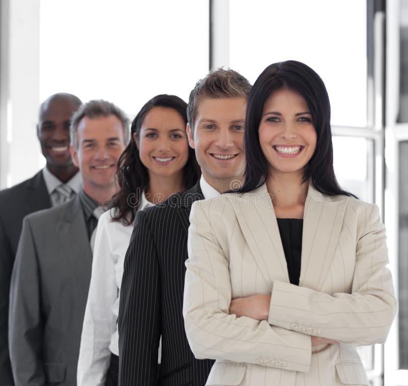 企业确信的女性领导先锋 库存照片