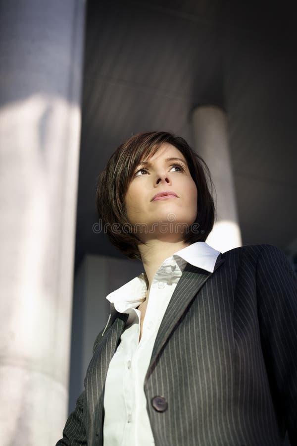 企业确信的妇女 免版税库存图片