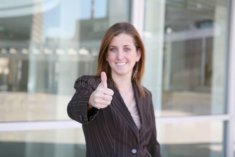 企业确信的妇女 免版税图库摄影