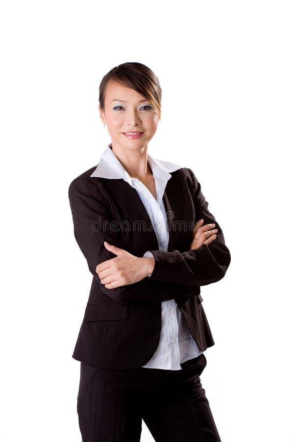 企业确信的妇女 库存照片