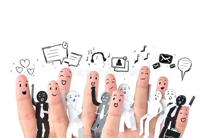 企业社交网络的标志 库存图片