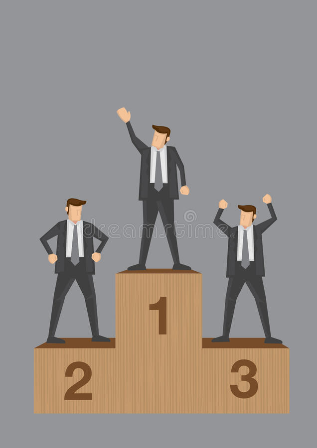企业竞争概念性传染媒介例证的优胜者 向量例证