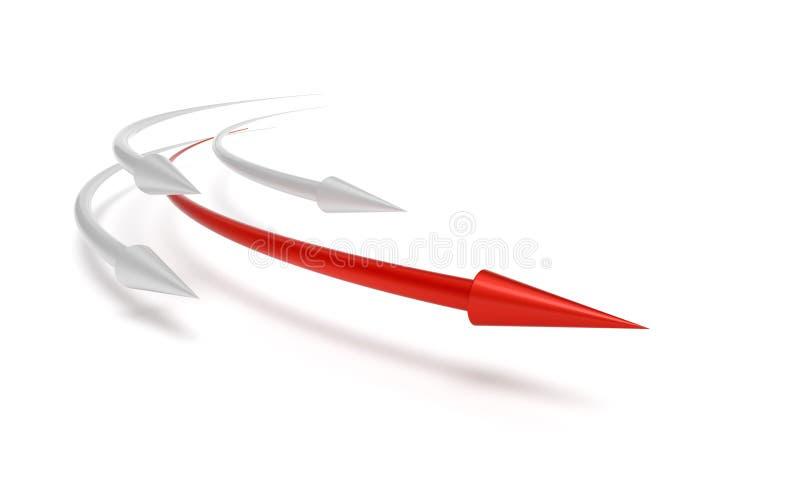 企业竞争概念赢利地区 库存例证