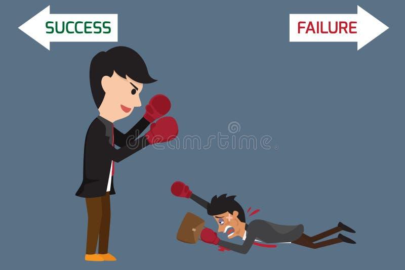 企业竞争概念:企业争斗 向量例证