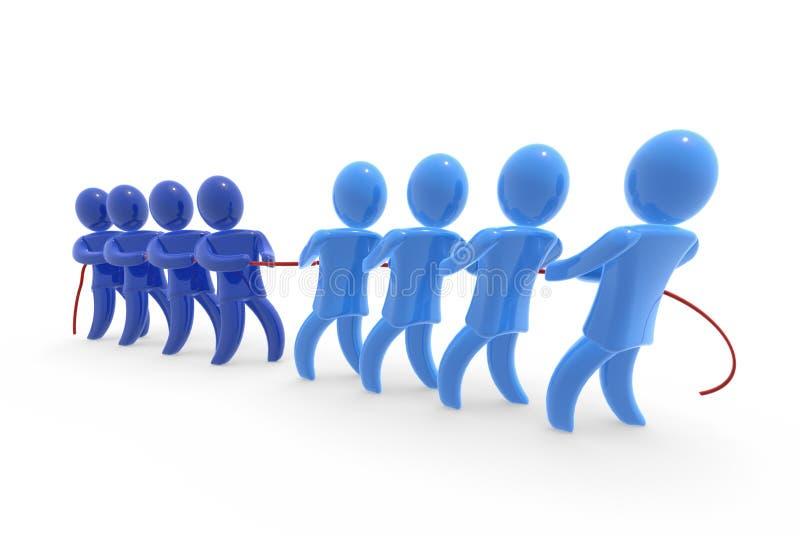 企业竞争 向量例证
