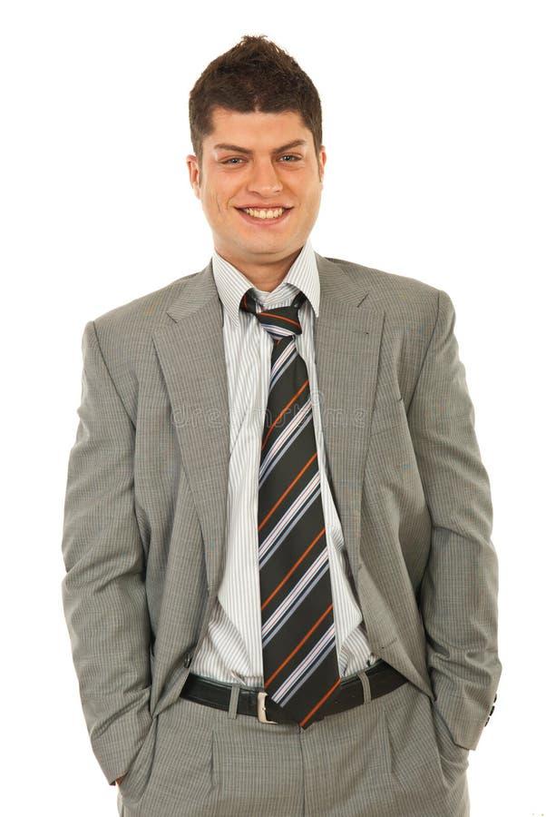 企业笑的人年轻人 库存图片