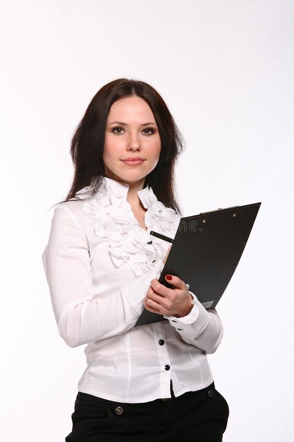 企业笔妇女年轻人 免版税图库摄影