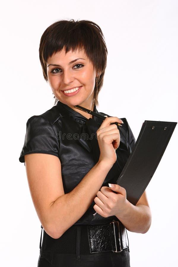 企业笔妇女年轻人 库存照片
