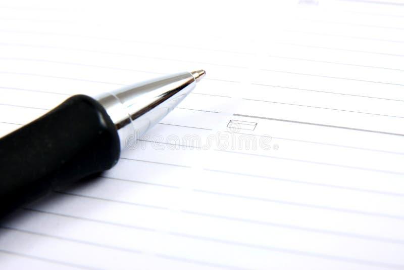 企业笔计划程序矿穴 免版税库存照片