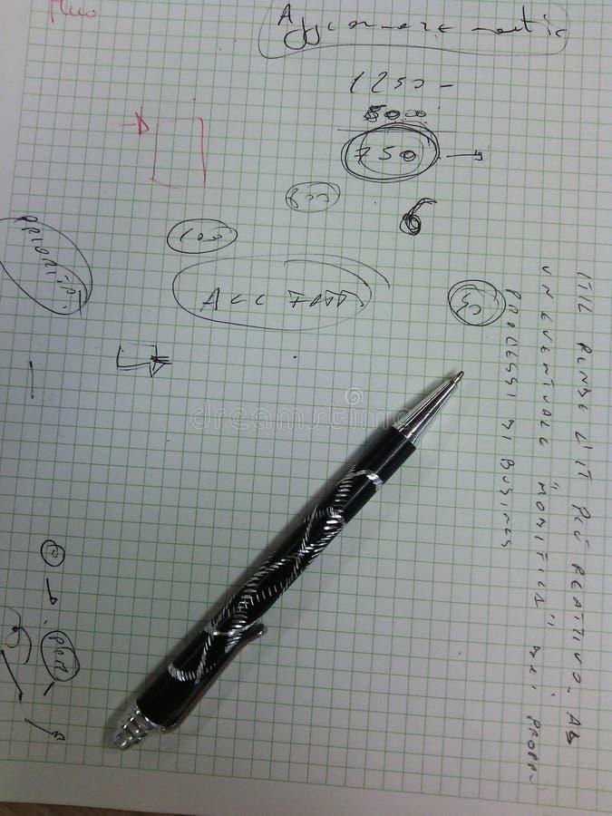 企业笔记用意大利语 免版税库存图片