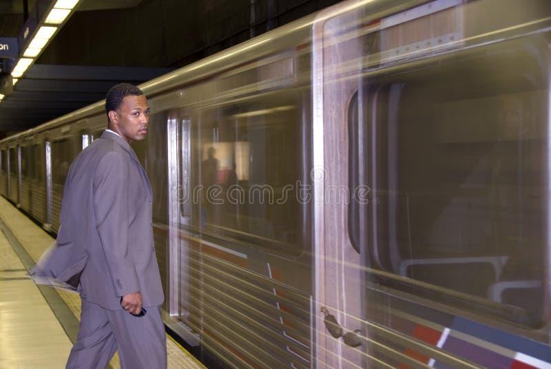 企业等待的地铁 免版税图库摄影