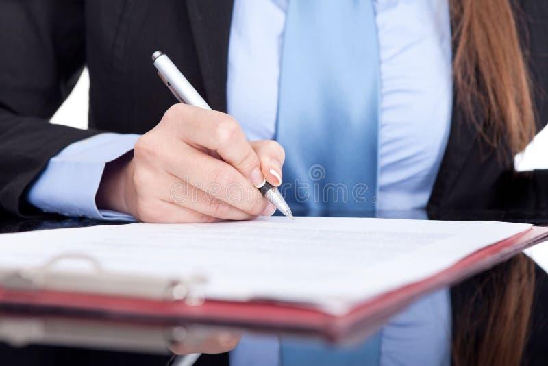 企业签名 免版税库存图片