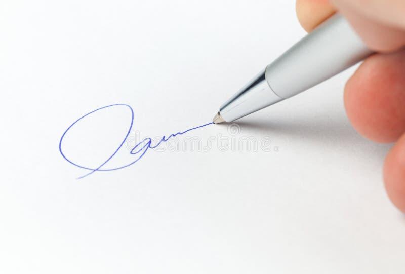 企业签名 免版税图库摄影