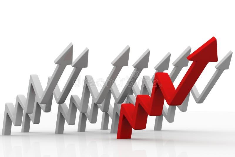 企业箭头提高 向量例证
