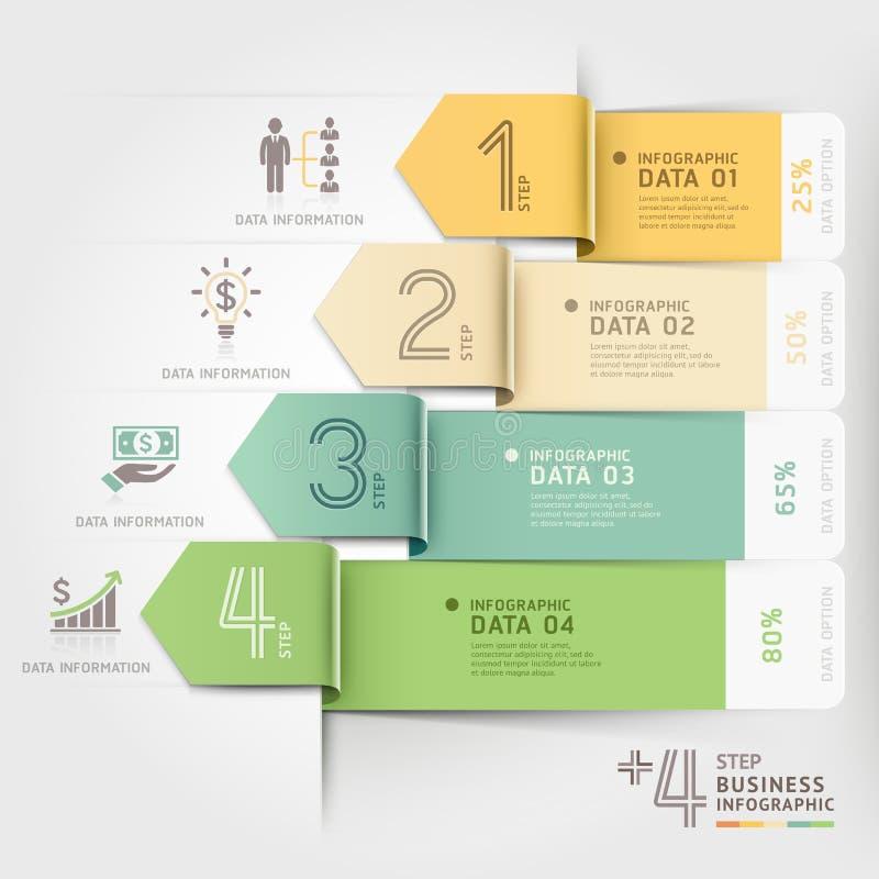 企业箭头infographics模板 库存例证
