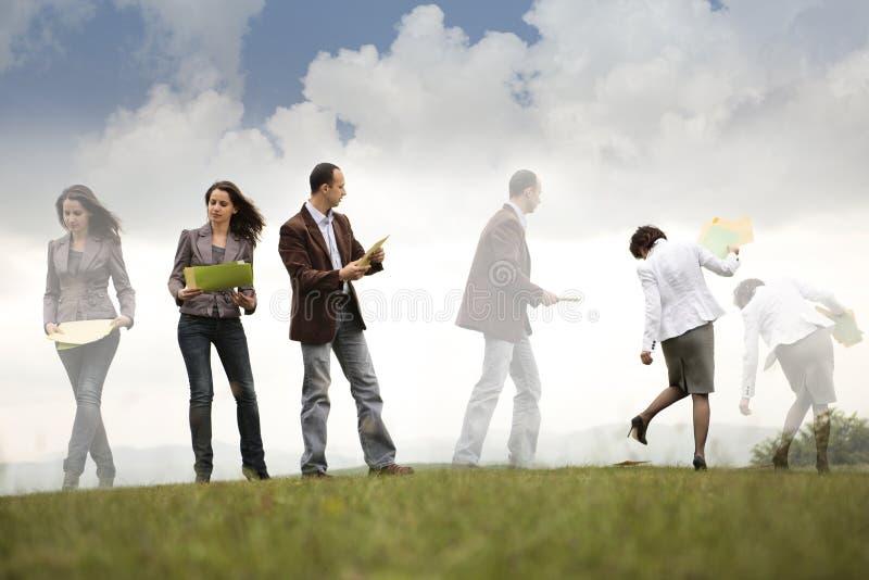 企业繁忙的移动人员 免版税库存照片