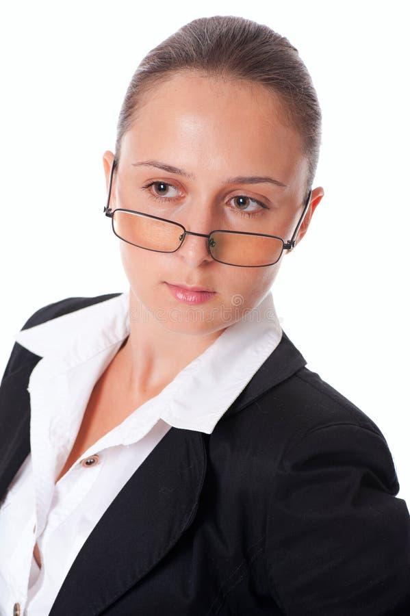 企业纵向妇女 图库摄影