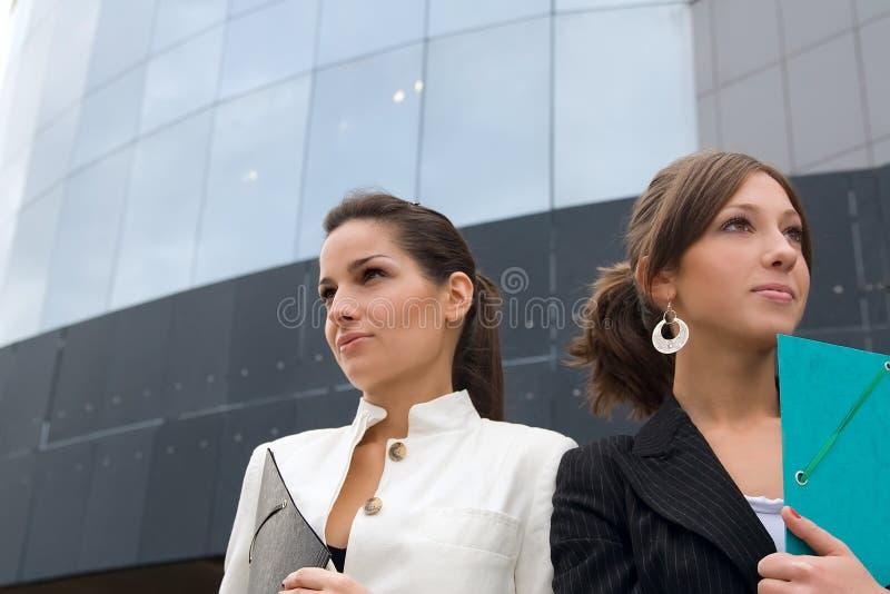 企业纵向妇女 免版税库存照片